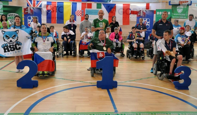 Boris in golden position at the Boccia Tatracup 2018 tournament